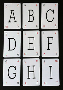 LEXICON LETTERS - VINTAGE STYLE PLAYING CARDS - CHOOSE YOUR LETTERS PICK & MIX