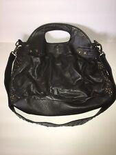 Antik Batik Leather Crossbody Handbag Bag Embellished Dark Grey Green 316d1f41946