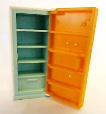 1978-84 Fisher Price DOLL HOUSE REFRIGERATOR #1960: White w/Yellow Door