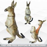 Kangaroo Animal Jewelry Trinket Box with Hinged Lid Enamel Bejeweled Rhinestone