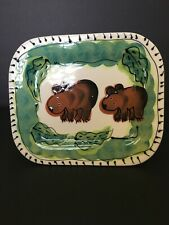 Vintage Brown Bear Plate Designed By Debra Chernilawsky 1996