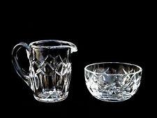 Waterford Crystal Creamer Pitcher & Sugar Bowl