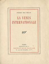 RARE EO 1923 N° TIRAGE DE TÊTE RÉIMPOSÉ PIERRE MAC ORLAN LA VÉNUS INTERNATIONALE