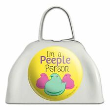 I'm A Peeple Person Peeps White Metal Cowbell Cow Bell Instrument
