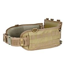 NcSTAR Tan Tactical Military MOLLE Padded Contoured Battle Belt w/ Pistol Belt