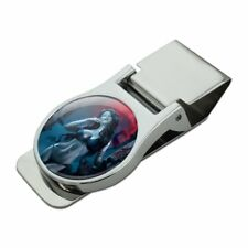 Sexy Vampire Blood Lust Red Moon Satin Chrome Plated Metal Money Clip