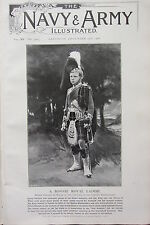 1902 PRINT ~ PRINCE EDWARD OF WALES IN THE UNIFORM OF THE GORDON HIGHLANDERS