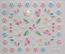 Accessoire ongles nail art Stickers autocollants- papillon, fleurs et feuilles