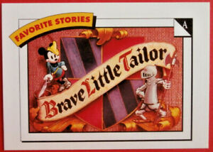 Disney COLLECTOR CARDS - Card #007 - BRAVE LITTLE TAILOR - IMPEL 1991