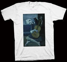 Pablo Picasso The Old Guitarist T-Shirt Leonardo Da Vinci Vincent Van Gogh