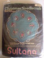 Sultana Vintage Crewel Tree Skirt Kit, Stitchery Ornaments