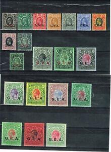 TANGANYIKA - KGV 1917/21 SG 45/61 FINE MOUNTED MINT SET + EXTRAS