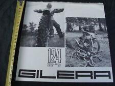 Brochure Moto Gilera 124 regolarità casa 5v motocross old bike vintage italy