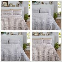 Rapport Arran Knit effect 100%Brushed Cotton Flannelette Duvet Cover Bedding Set