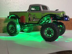 Axial SCX24 GREEN LED Rock Lights C10 Jeep Deadbolt B17 Betty Plug And Play