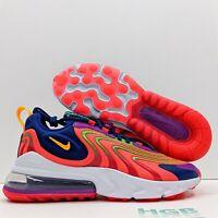 Nike Air Max 270 React Eng Men's Running Gym Orange Colorful Bright CD0113-600