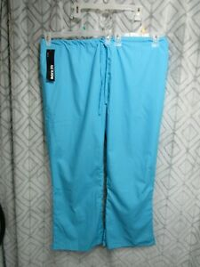 New Uniform City Scrub Pants Size 3X Blue Elastic Waist  Pockets Career Work