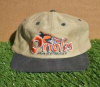 Baltimore Orioles Baseball Logo Athletic Vintage 90's Leather Strapback Cap Hat