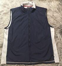 NWT Nautica Mens Vest Sz XL Navy Blue Heather Grey Gray Fleece Zip Up
