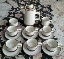 Vintage Denby Potters Wheel English Stoneware Coffee Set In Perfect Condition