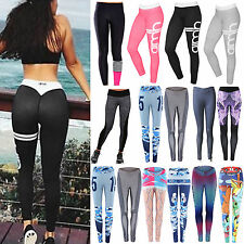 Women Sports Pants High Waist Yoga Fitness Jogger Leggings Compression  Trousers