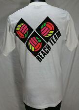 Hawaii Crazy Shirts BEACH VOLLEYBALL TEAM T-Shirt L NEON surf skate Tee NEW