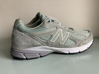 New Balance Mens M990SM4 990 Silver Mint Made in USA Running Sneakers Size 11.5