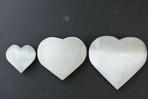 Selenite Puffed Heart 4cm Reiki-Energy-Healing-Scrying, Crystal Quartz Gift NP1
