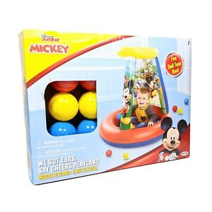 New Disney Mickey Inflatable Ball Pit, We Got Ears Say Cheers Playland, 15 Balls