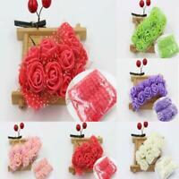 144pcs Mini Foam Roses Flowers Bouquet DIY Crafts Wedding Home Christmas Decors