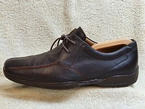 Clarks mens FlexLight Extra Wide Comfort shoes Leather Brown UK 10 EUR 44