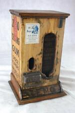 WOOD ZENO GUM MACHINE COMPLETE WORKS ON A PENNY CENT GUMBALL 1890'S GREAT COND