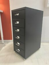 IKEA Helmer Metal 6Drawer Home Office Filing Tool Storage Unit On Castors  28x69