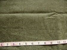 100% Cotton Fabric Olive Green with Lighter Olive Green Design