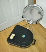 Vtg 1970's LUDWIG Acrolite 5 X 14 Snare Drum with Case & Stand