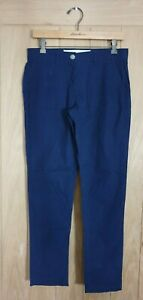 Next size 8 R navy blue 100% cotton casual chino trousers w30 L30