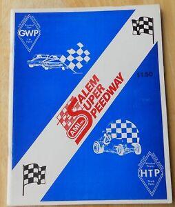 Salem Speedway Auto Race Program Indiana IN   1980