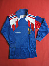 Maillot Equipe de France 1990 Adidas Vintage Manche Longue Enfant - 8 ans
