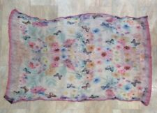 Accessorize Pastel Floral Butterfly Rectangle Scarf Sheer Summer Accessory New