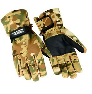 Hugger Men's Camo Glove Group for Motorcycle Riding, Hunting, and Hiking