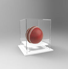 Cricket Ball Display Case Acrylic Perspex Signed Ball Memorabilia WHITE Hatrick