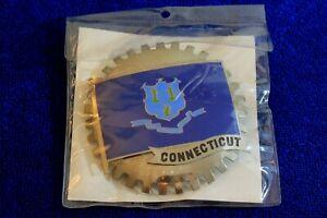 Connecticut Flag Grille Badge Bumper License Topper Accessory Truck