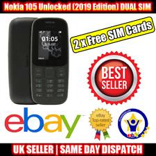Nokia 105 Desbloqueado (2019 edición) Dual Sim Teléfono Móvil Negro - 2 Tarjetas Sim Libre