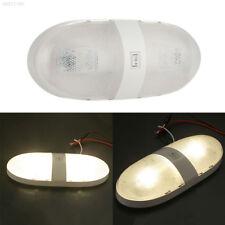 3BE5 Car RV Interior LED Light Ceiling Double Dome Lamp Camper Trailer DC 12V