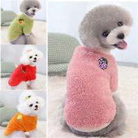 Dog Clothes Pet Puppy Cat Winter Fleece Soft Hoodie Daisy Fruit Print Windproof