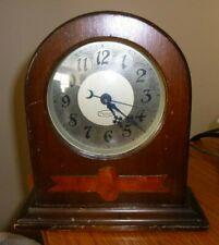 Vintage National Electric Clocks Co. Mantel Clock Walnut Finish