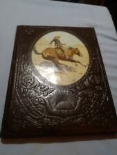1 Pre-owned Near Mint The Old West The Cowboy Leather Back Hardcover