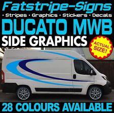 FIAT DUCATO L2 MWB grafica Adesivi Decalcomanie Strisce Giorno Van Camper Camper