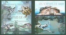 Schildkröte Landschildkröte Mnh 4er Set Briefmarken 2011 Burundi #897-900 Briefmarken Motive