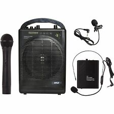Pyle PWMA1216BM Portable Pa Speaker Amplifier&mic.sys.